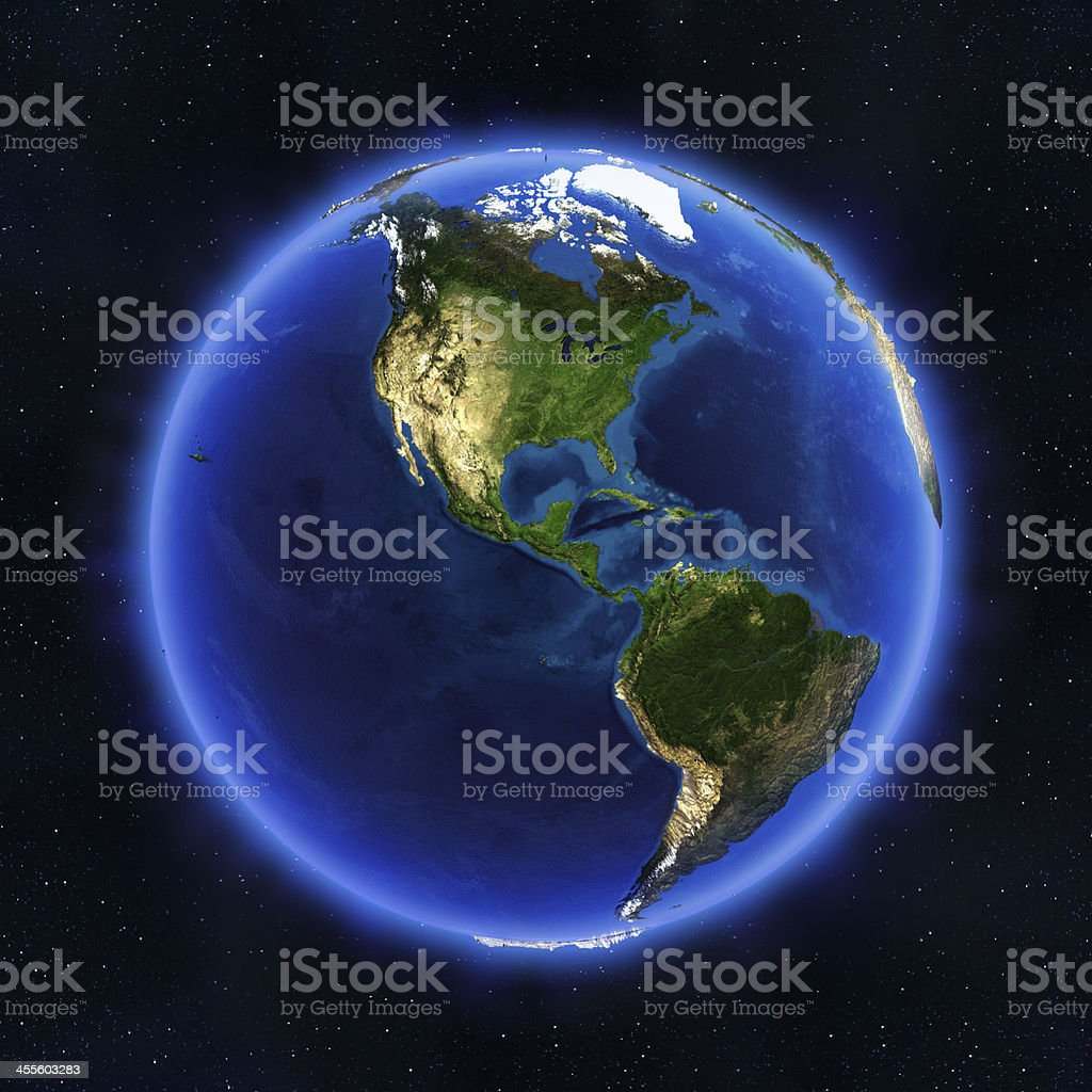 America globe stock photo