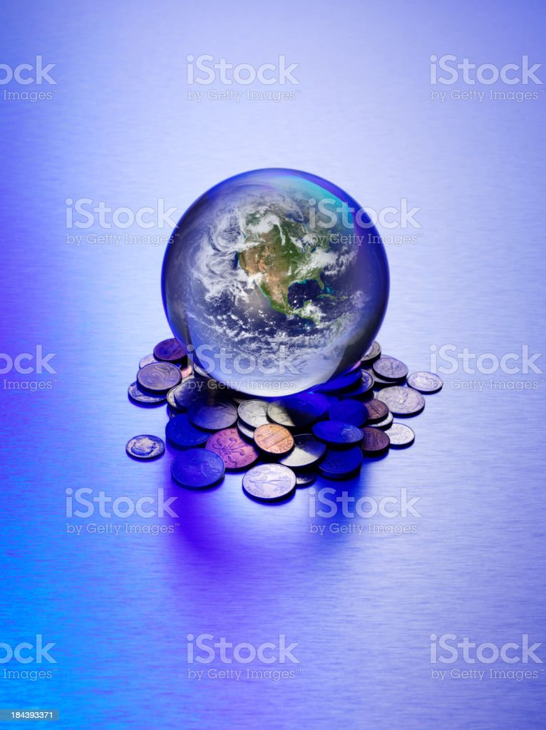 America in a Crystal Ball royalty-free stock photo