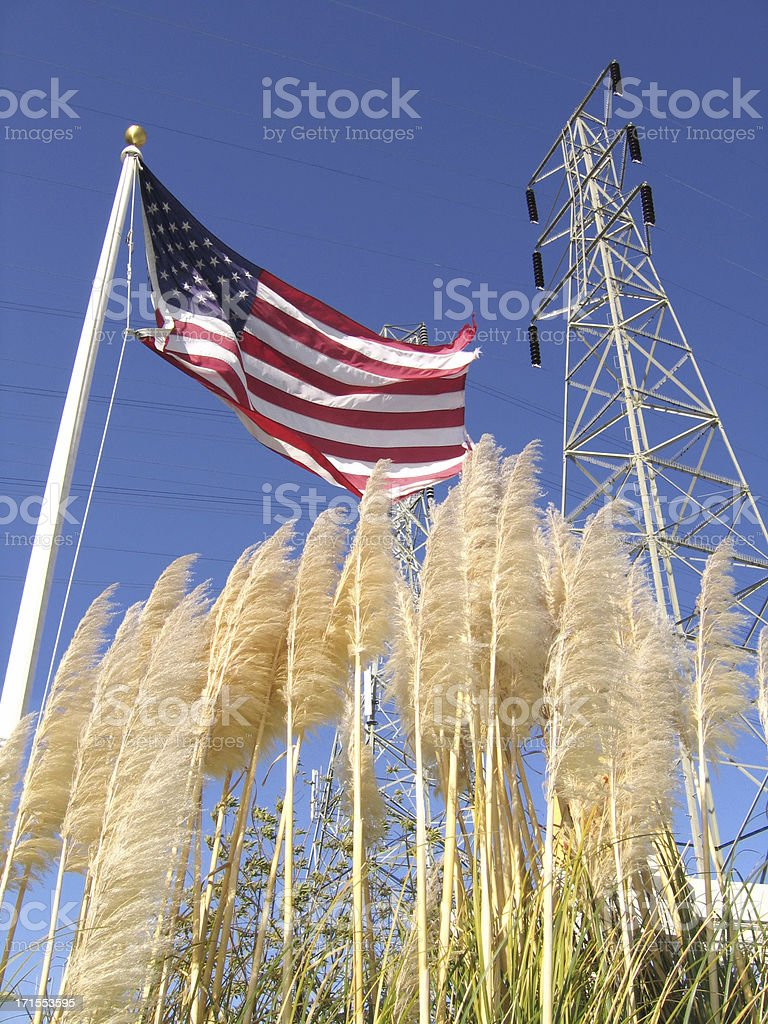 America, Nature, and Technology royalty-free stock photo