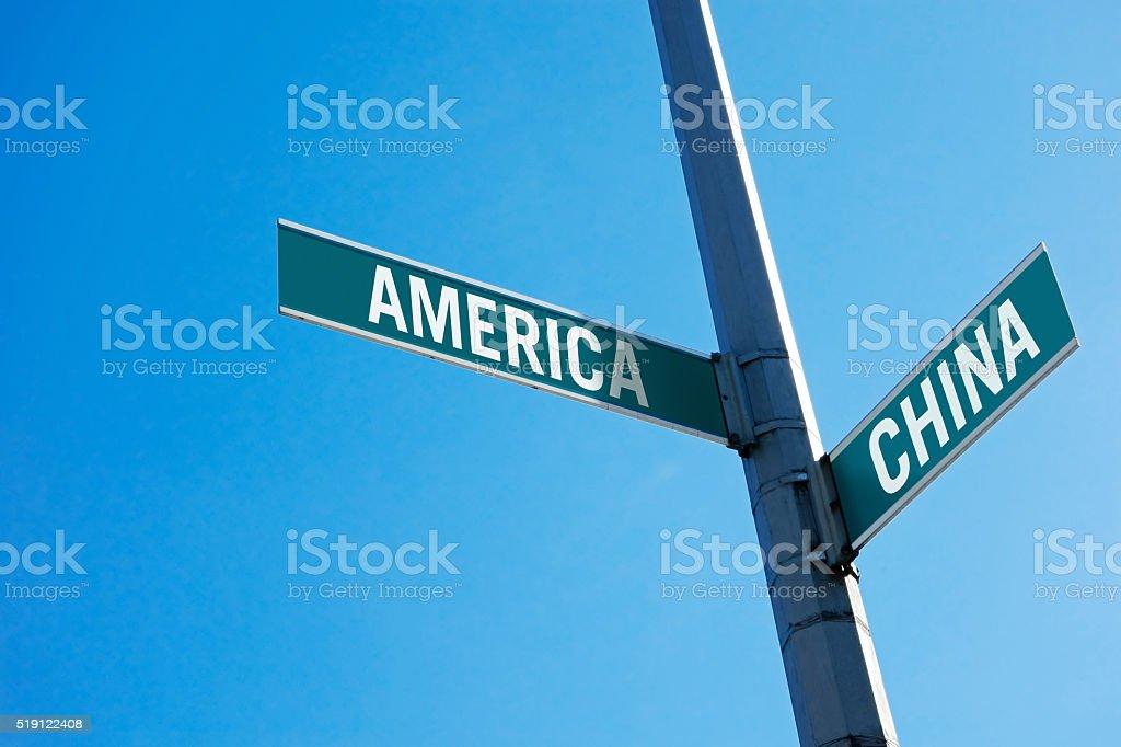 America or China? stock photo