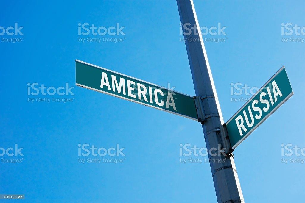 America or Russia? stock photo