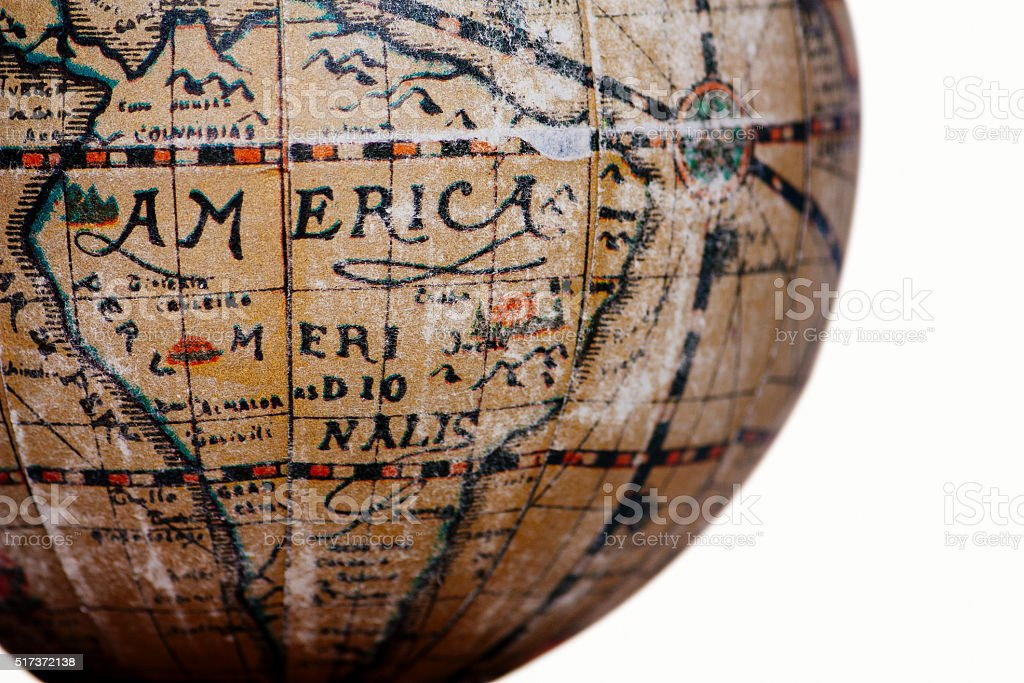 america world, cut out on white background stock photo