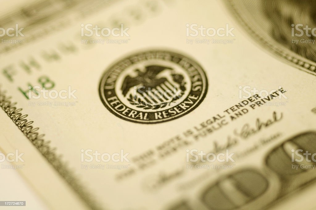 American $100 bill, close-up royalty-free stock photo