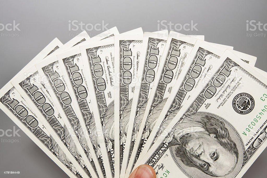 American 100 U.S. dollars stock photo