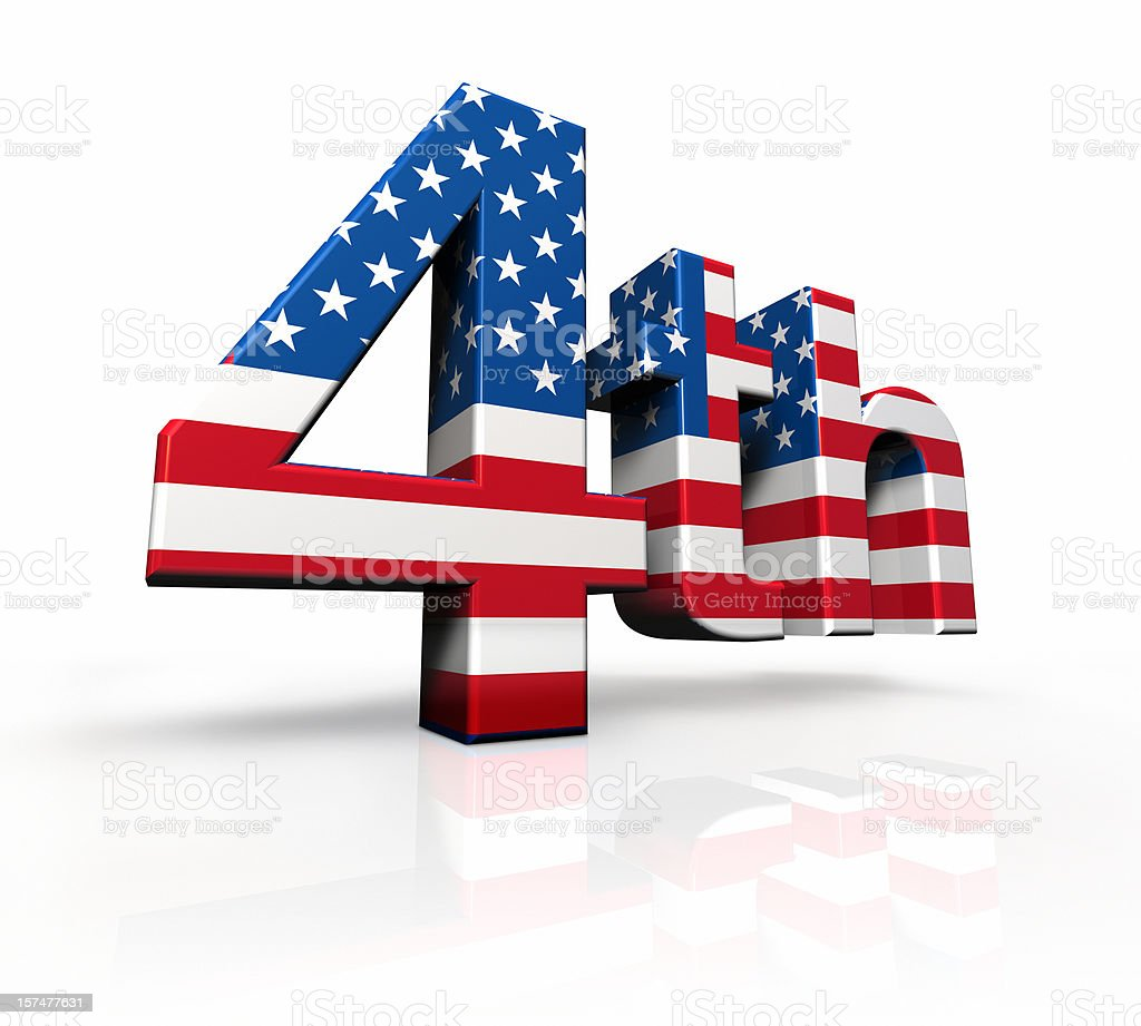 American 4th of july stock photo