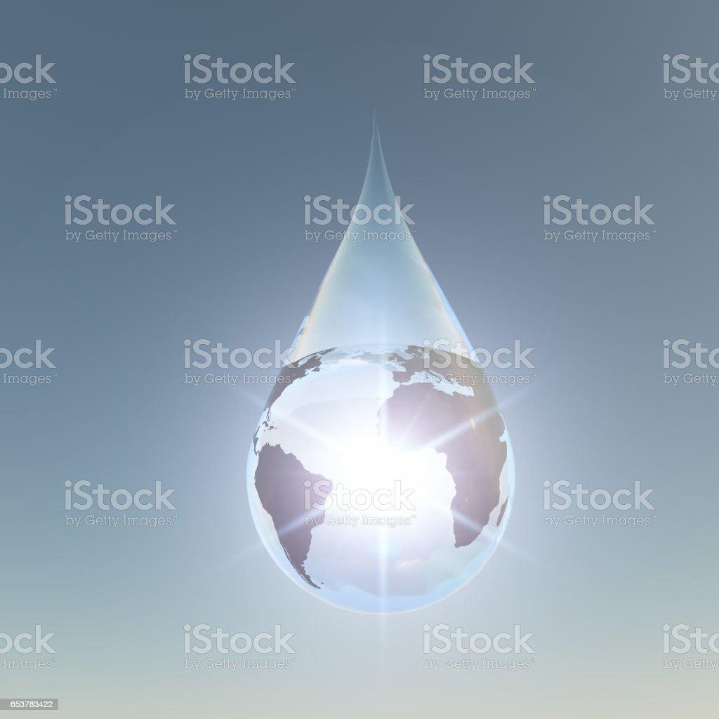 American african atlantic droplet stock photo