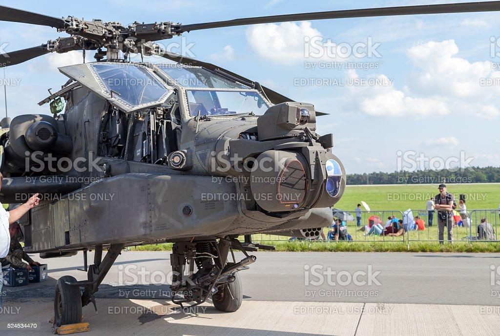 american AH 64 longbow apache on Berlin Air Show stock photo