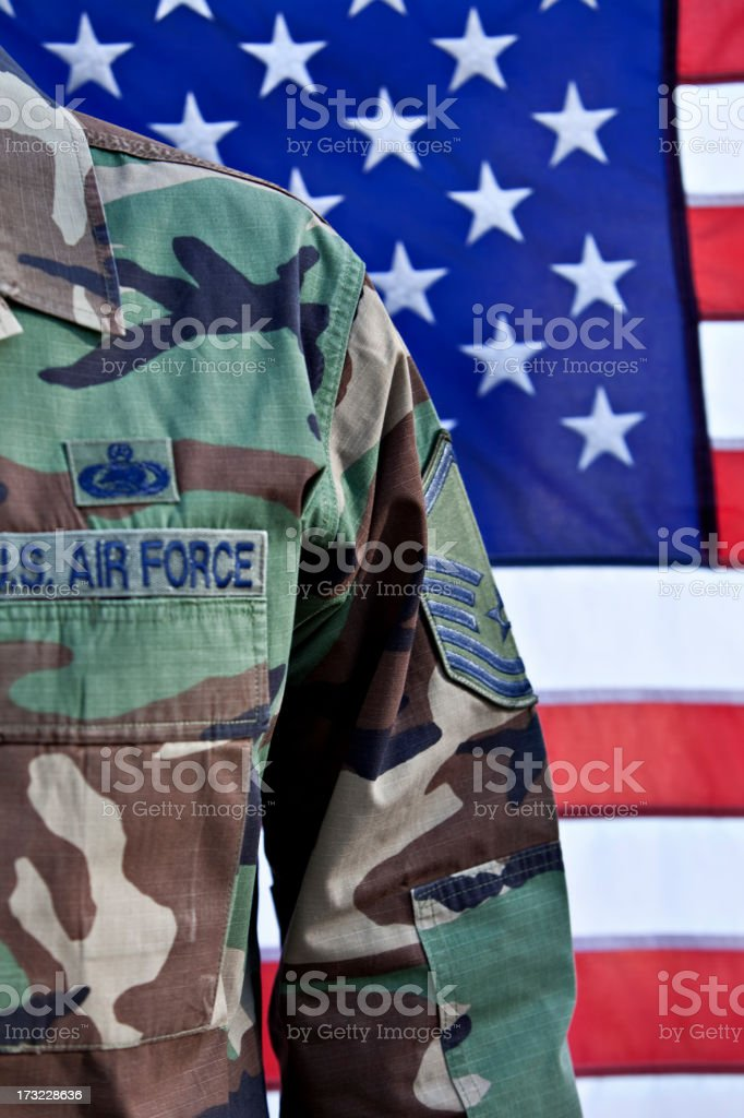 American Air Force Soldier royalty-free stock photo