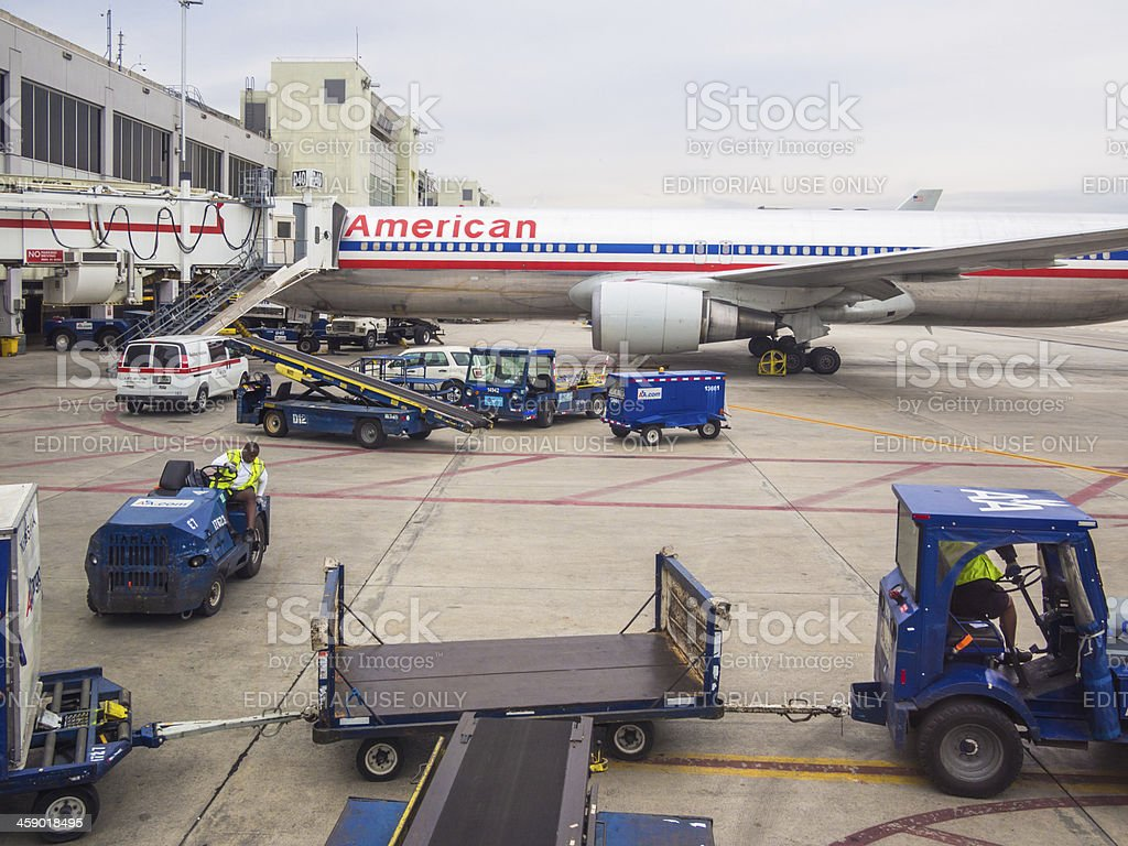 American Airlines Airplane royalty-free stock photo