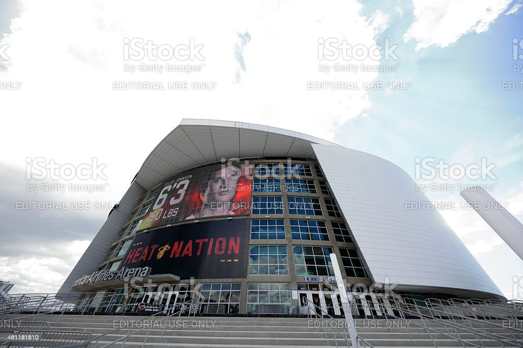 American airlines arena downtown Miami Florida stock photo