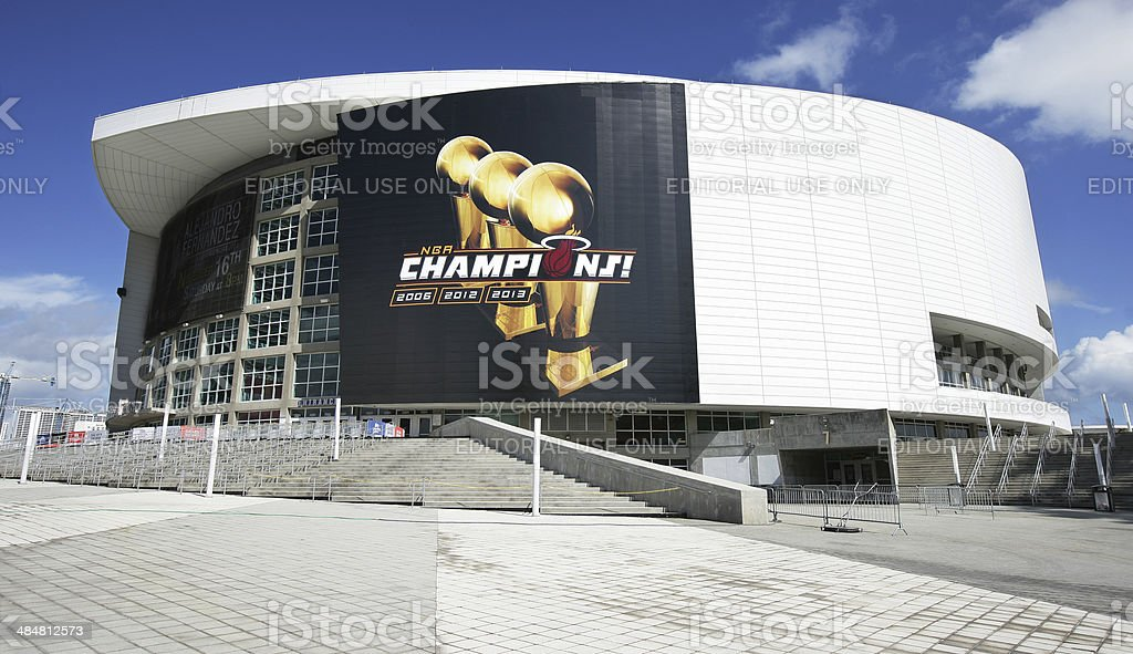 American Airlines Arena Miami Heat stock photo