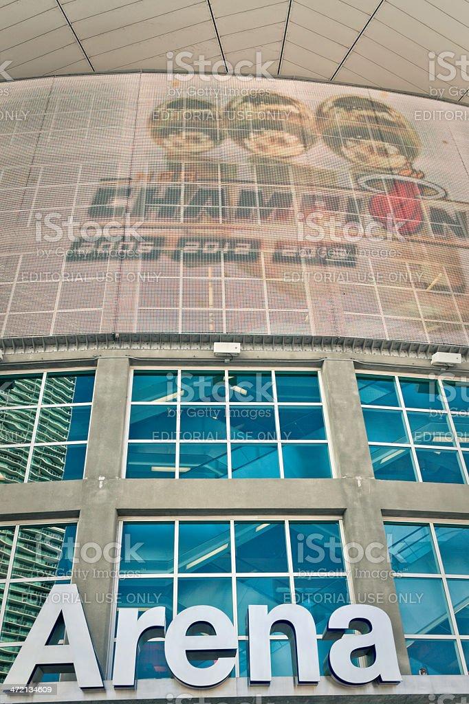 American Airlines Arena, Miami stock photo