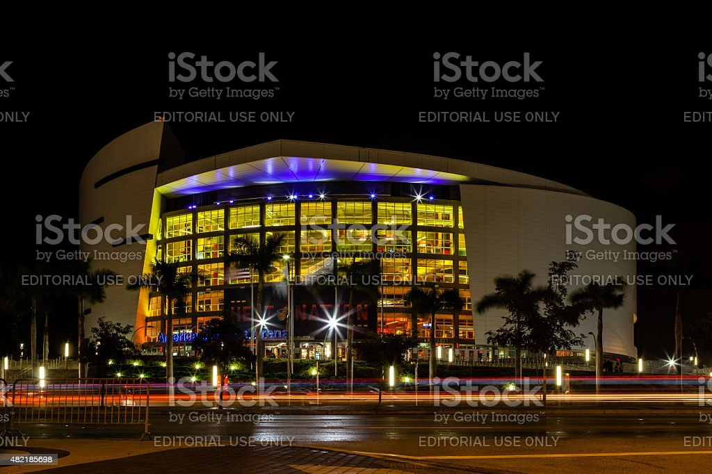 American Airlines Arena stock photo