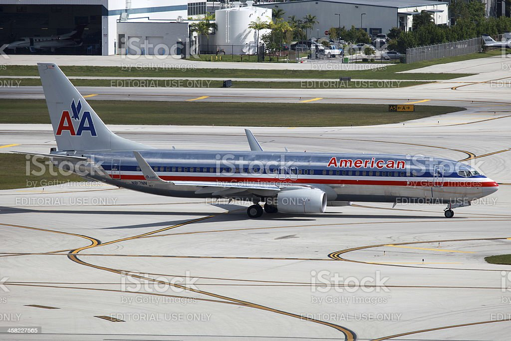 American Airlines Boeing 737-800 stock photo