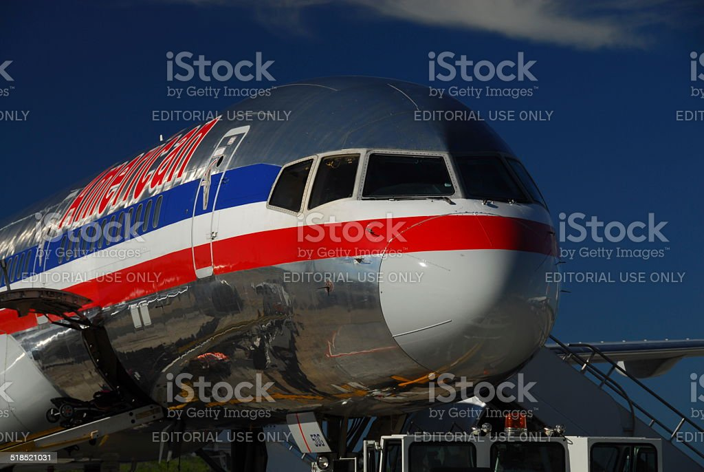 American Airlines Boeing 757 stock photo