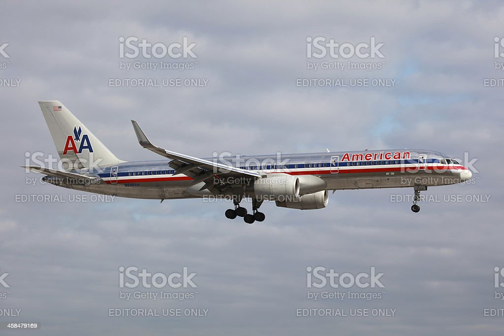 American Airlines Boeing 757-200 royalty-free stock photo
