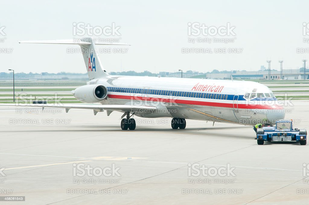 American Airlines Departure royalty-free stock photo