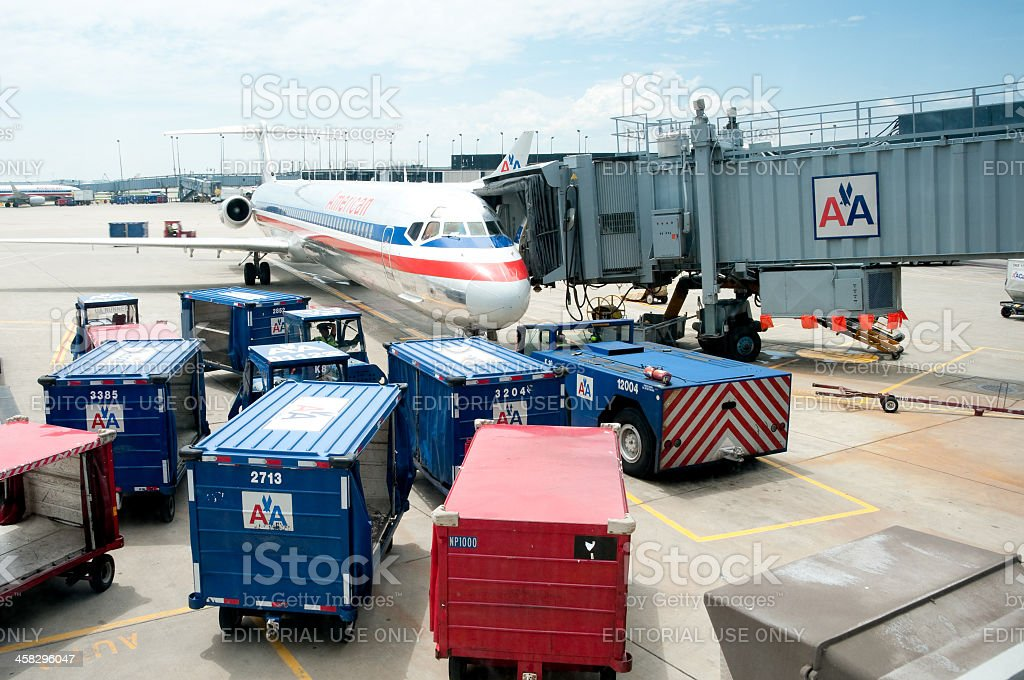American Airlines Jet royalty-free stock photo