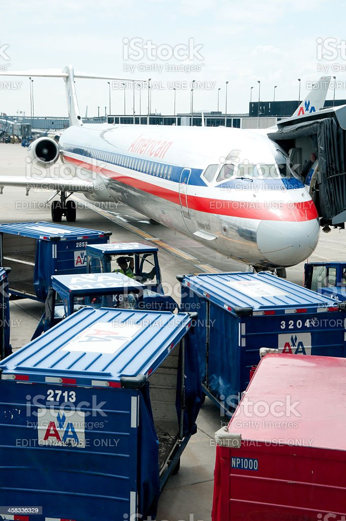 American Airlines royalty-free stock photo