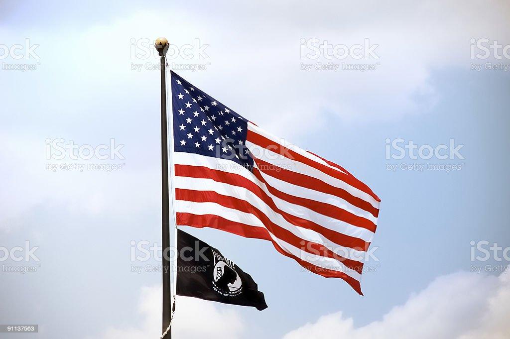 American And POW MIA Flag stock photo