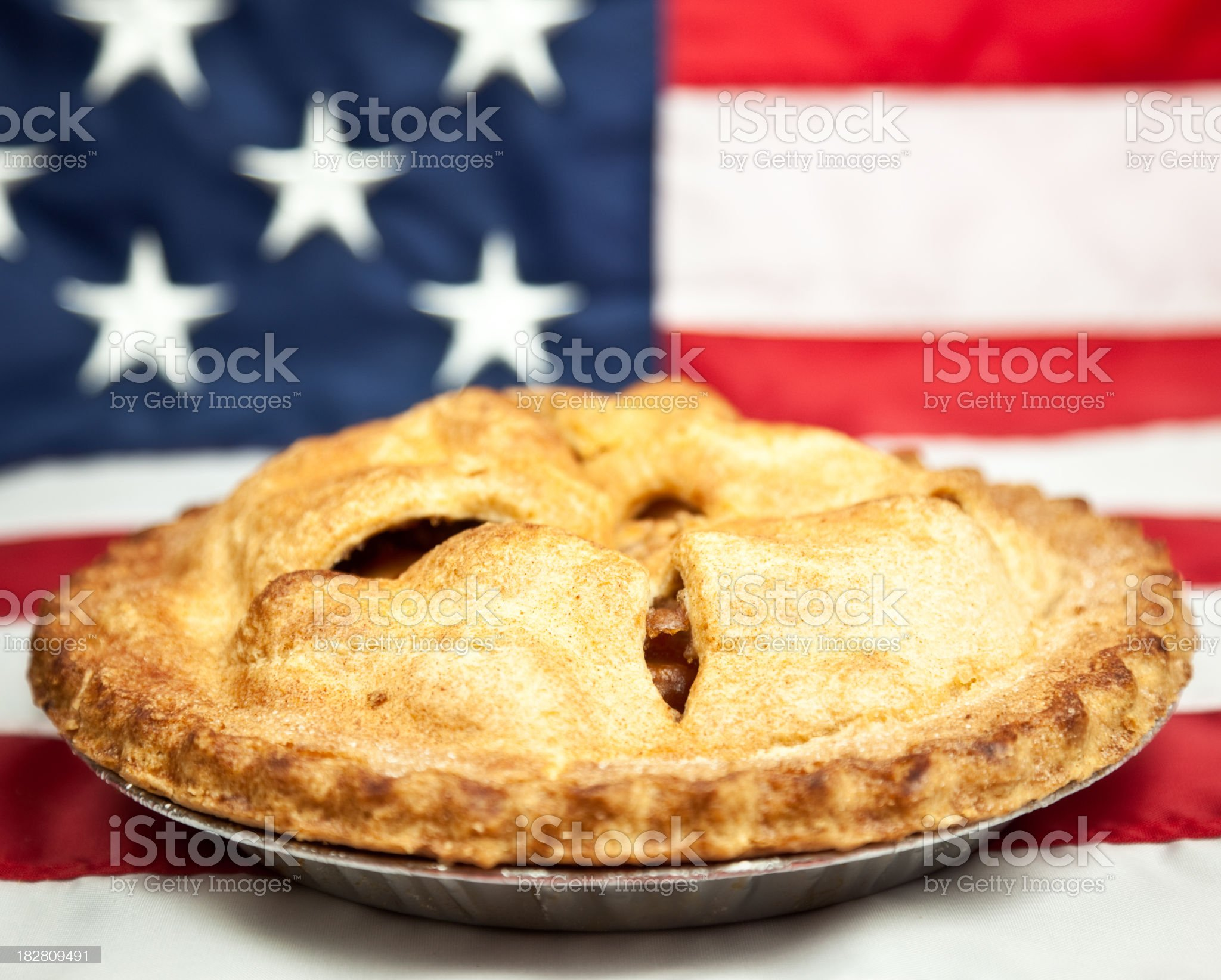 American Apple Pie royalty-free stock photo