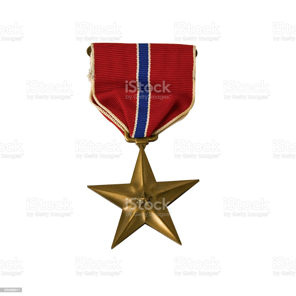 American Army Bronze star stock photo