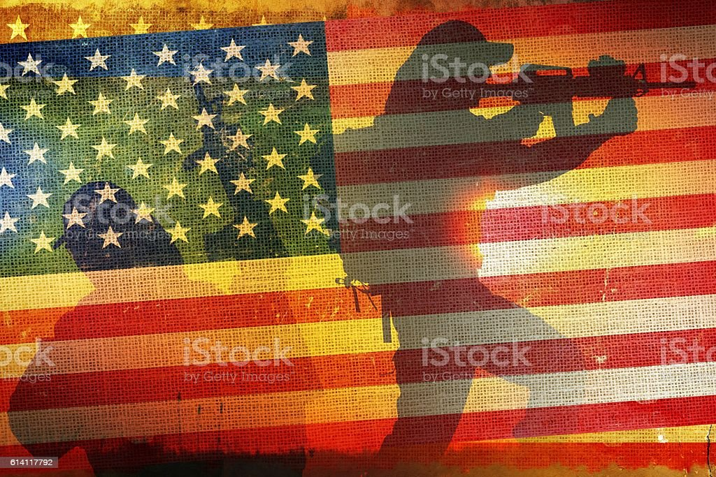 American Army Flag Concept stock photo