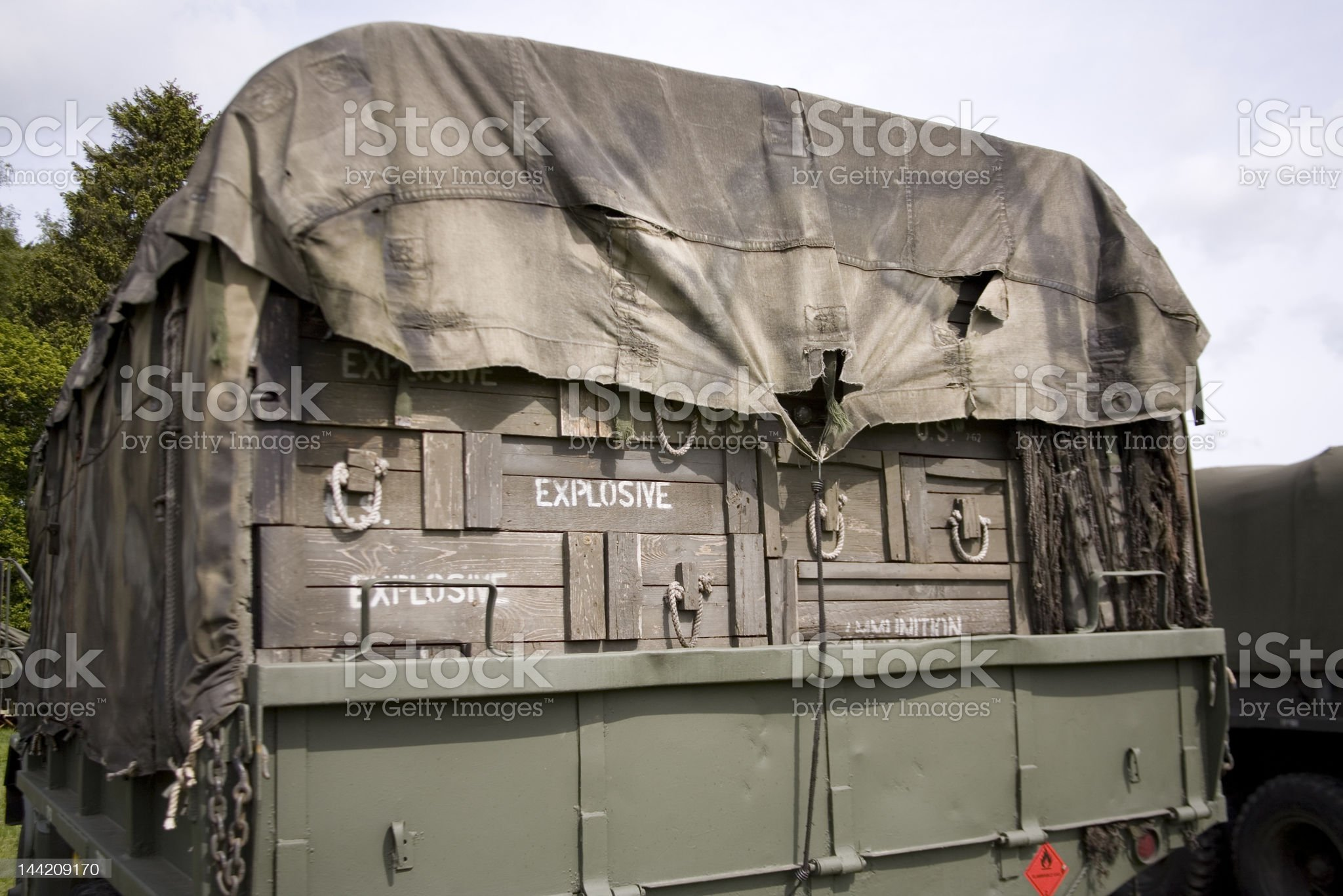 American army truck from WW2 royalty-free stock photo