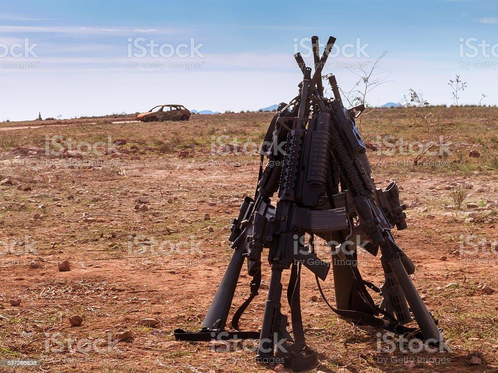 American assault rifles stock photo