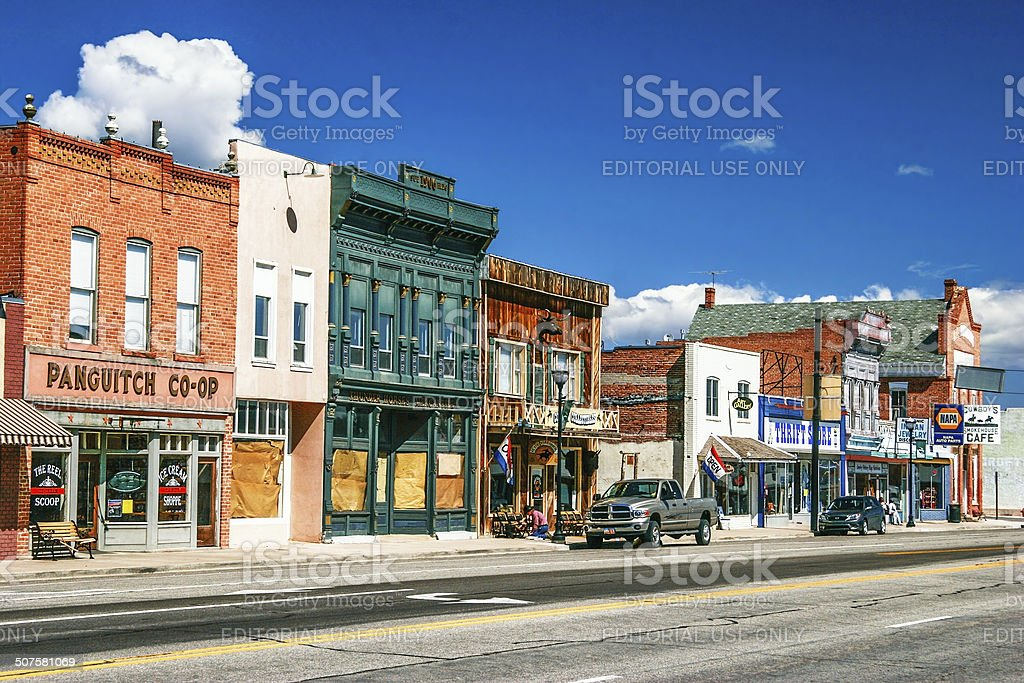 American authentic street in style wild west stock photo