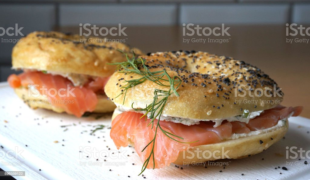 American bagels stock photo