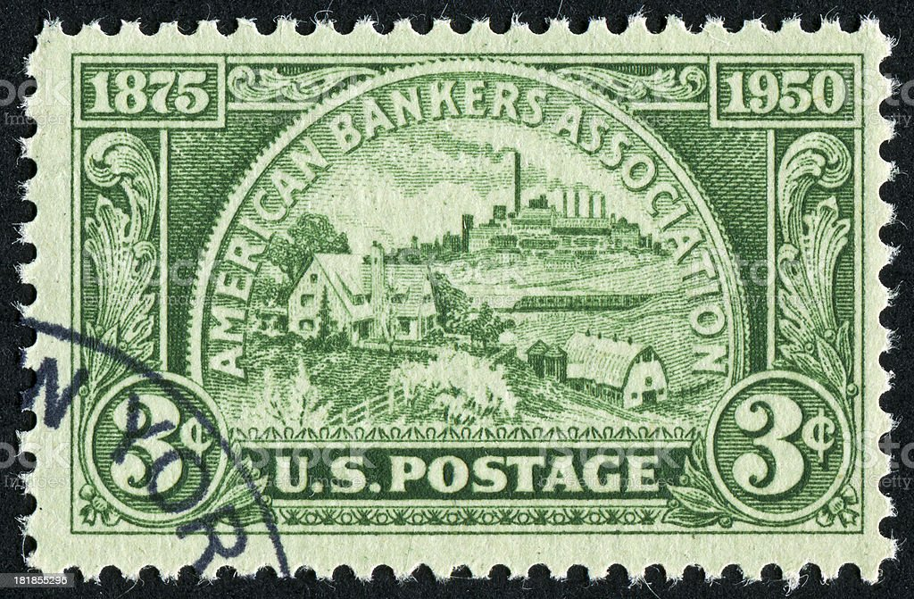 American Bankers Association Stamp royalty-free stock photo