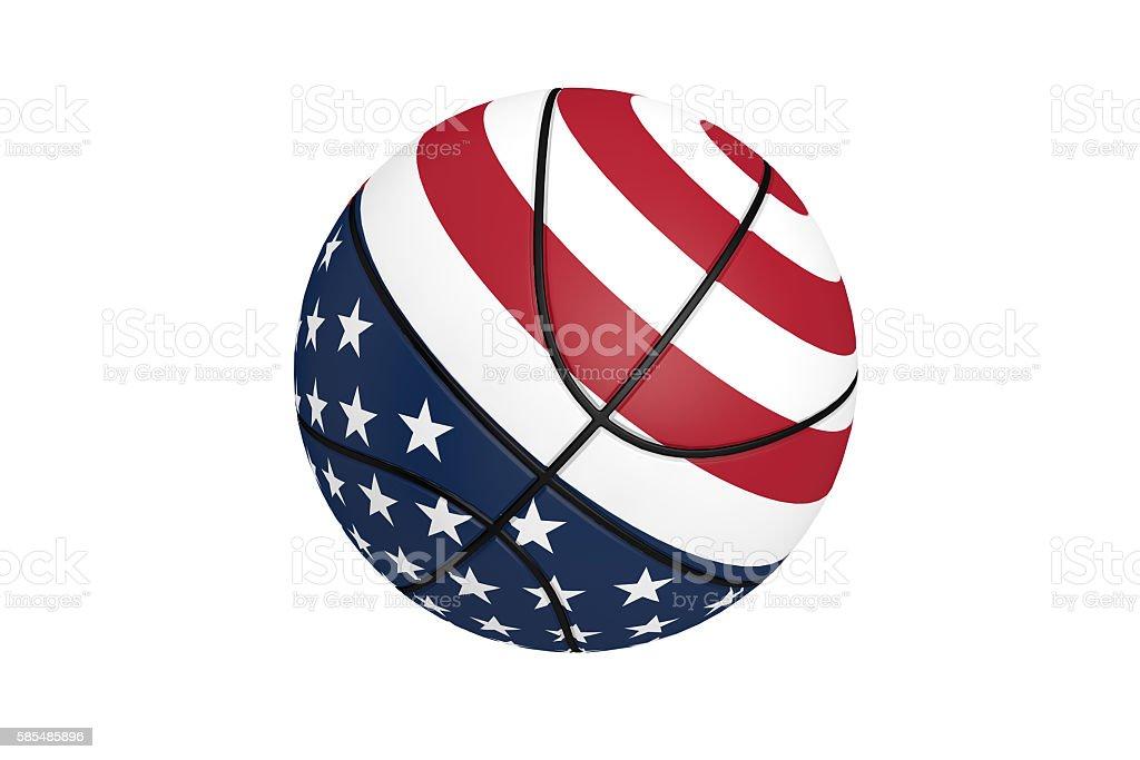 American Basketball, American Flag stock photo