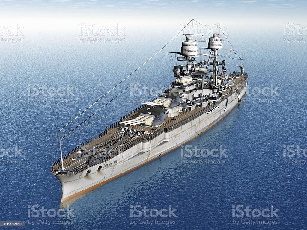 American Battleship stock photo
