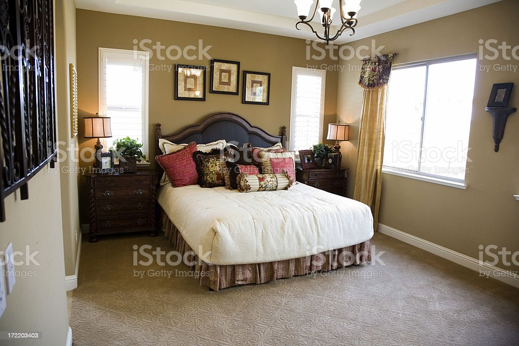 American Bedroom In The Morning royalty-free stock photo