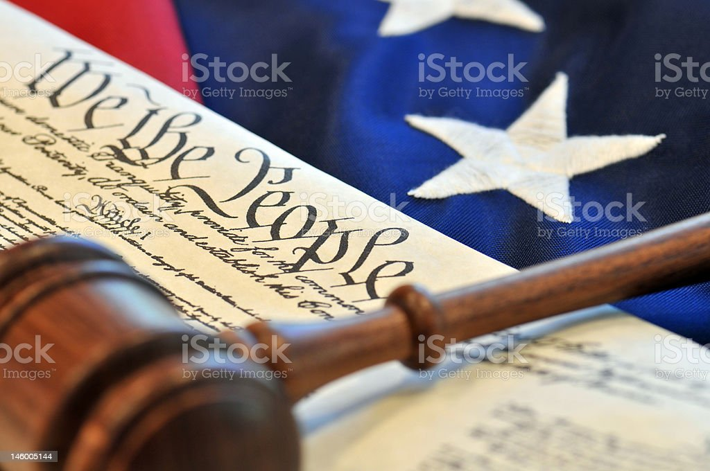 American Beginnings - US Constitution royalty-free stock photo