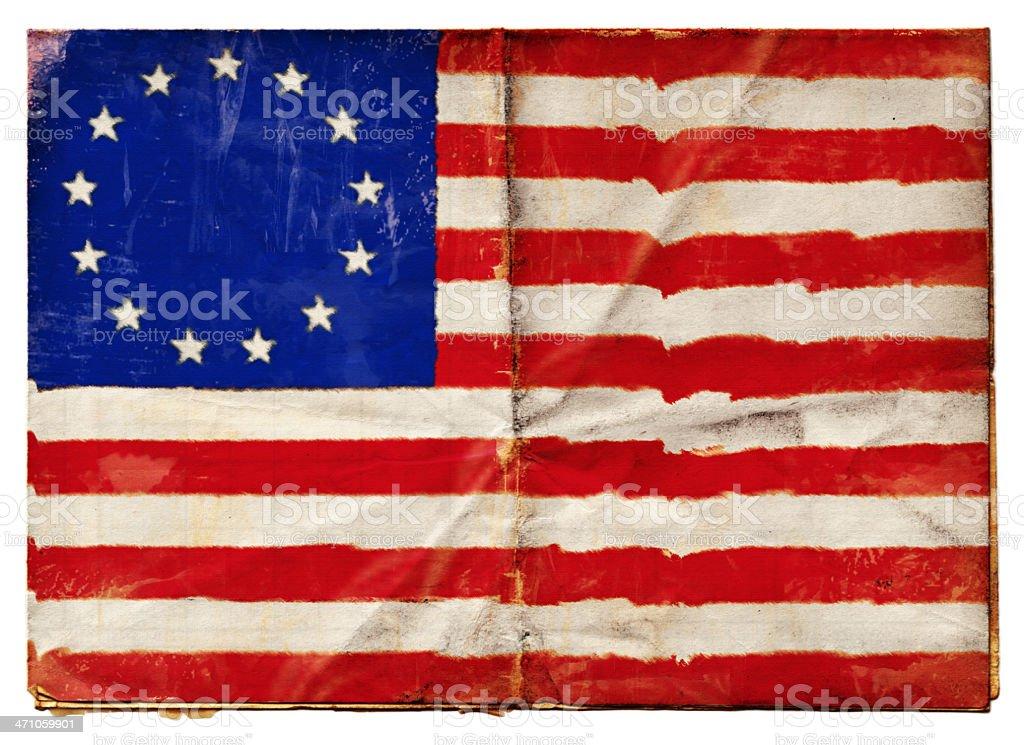 American Betsy Ross Flag (XXL) stock photo