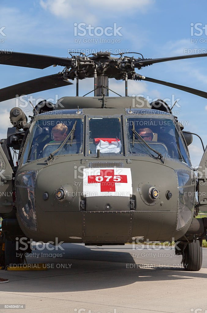 american black hawk on Berlin Air Show stock photo