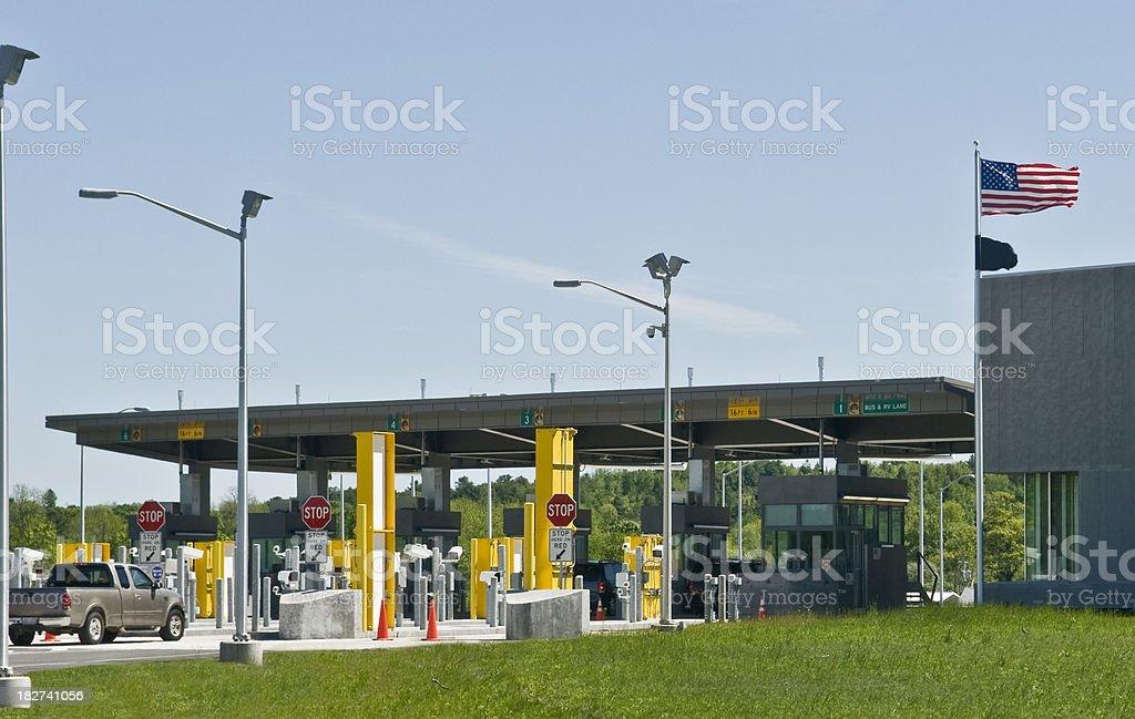 American Border Customs royalty-free stock photo