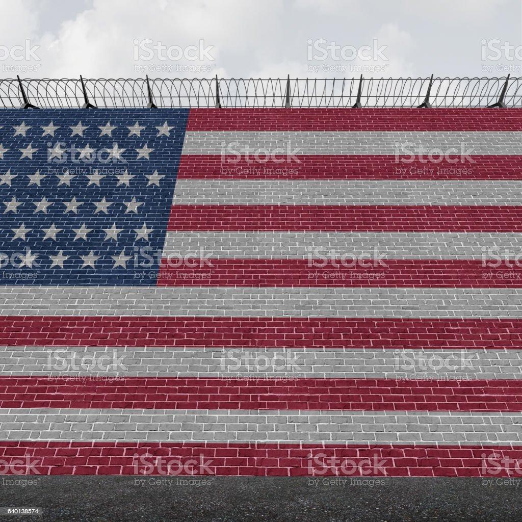 American Border Wall stock photo