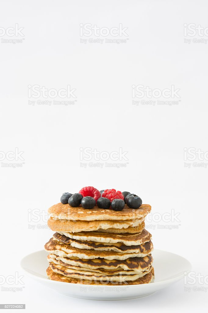 American breakfast. Pancakes stock photo