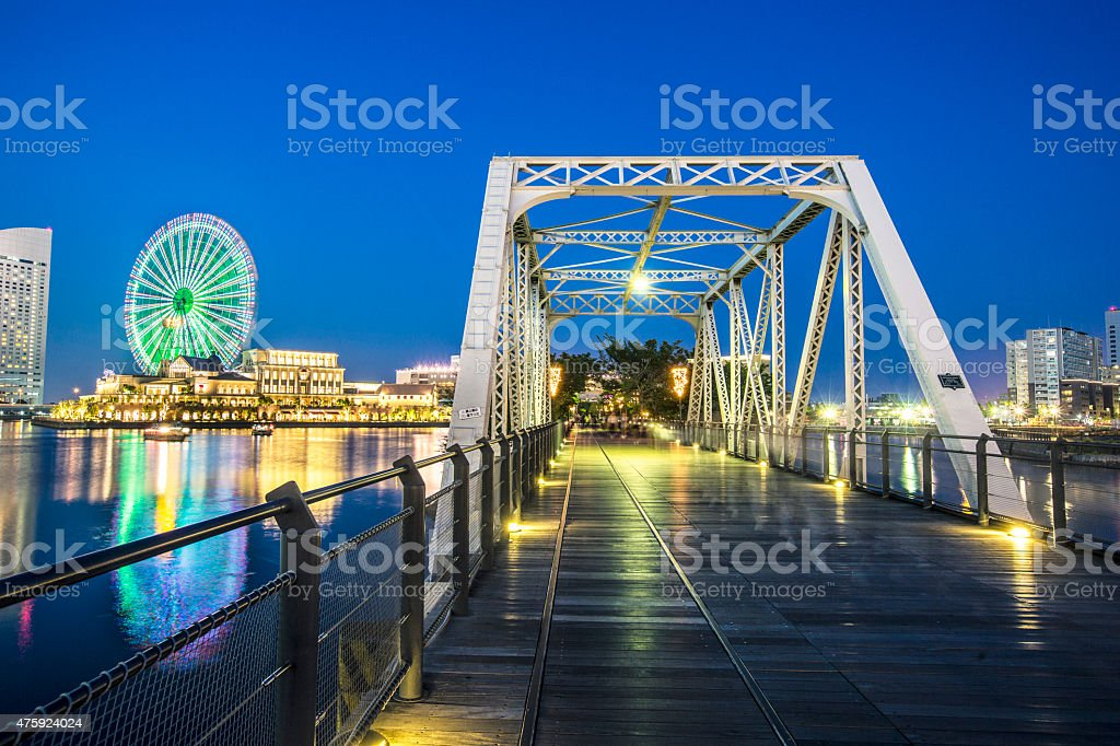 American bridge in Yokohama stock photo