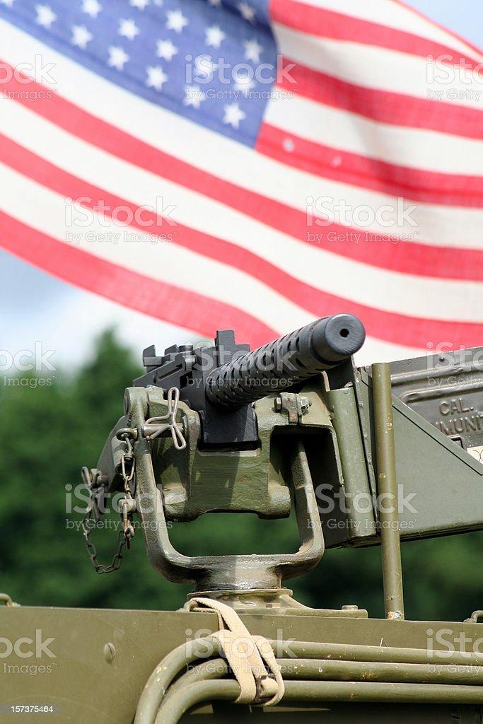 American Browning Machine gun. stock photo