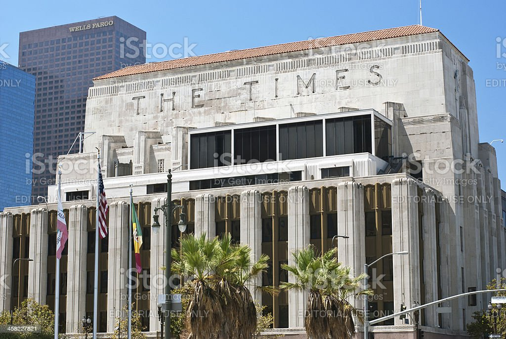 American Buildings: Los Angeles Times News Headquarters, L.A. California, USA stock photo