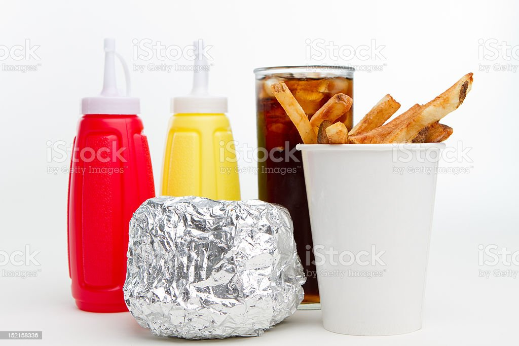 American Burger Lunch royalty-free stock photo