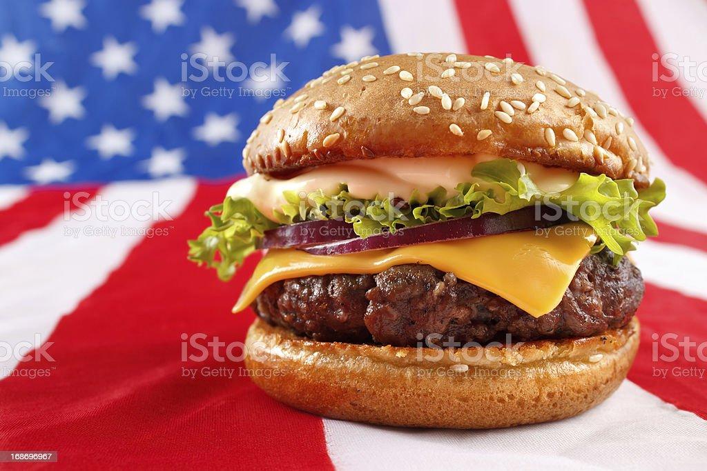 American burger royalty-free stock photo