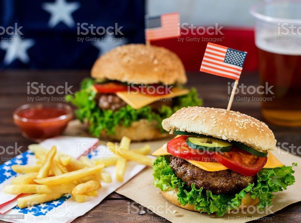 American Burger stock photo