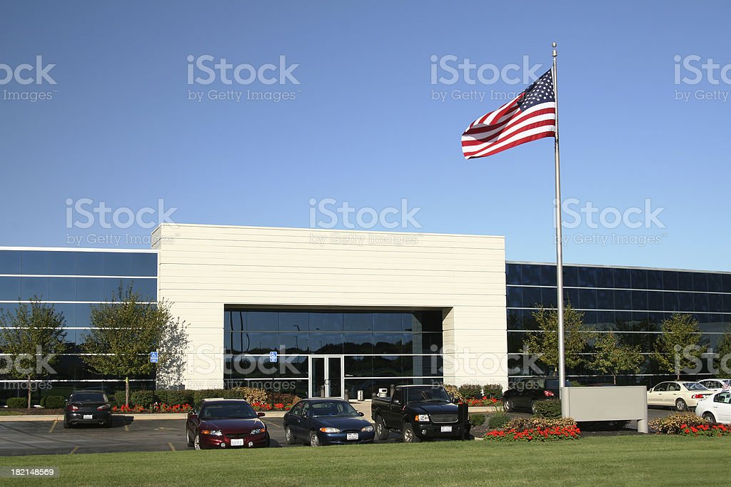 American Business Building stock photo