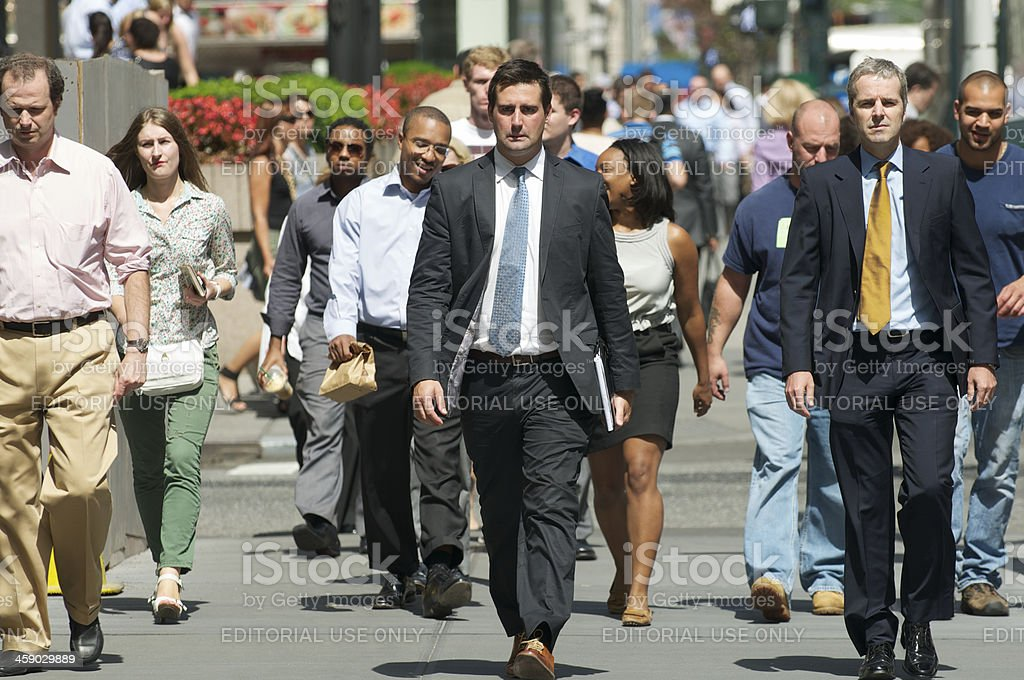 American Business People and Pedestrians New York City royalty-free stock photo