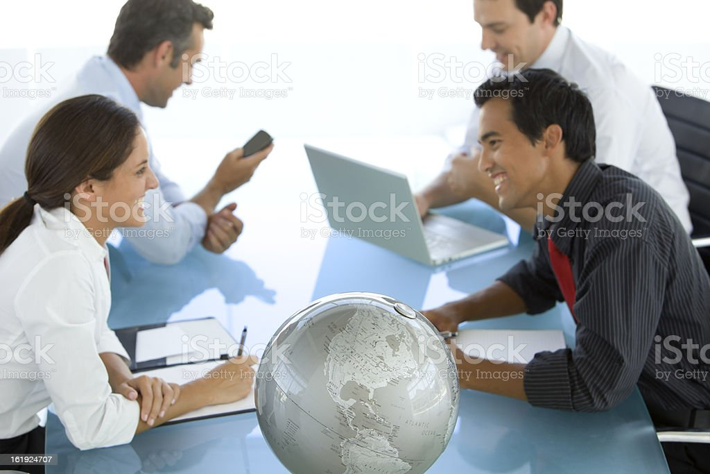 American business team at a business meeting royalty-free stock photo